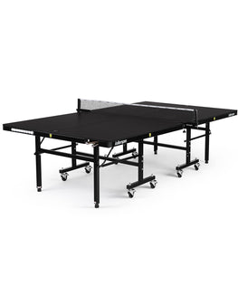 Killerspin Indoor Ping Pong Table UnPlugNPlay415 Mega DeepChocolate Black frame Black top model 2020