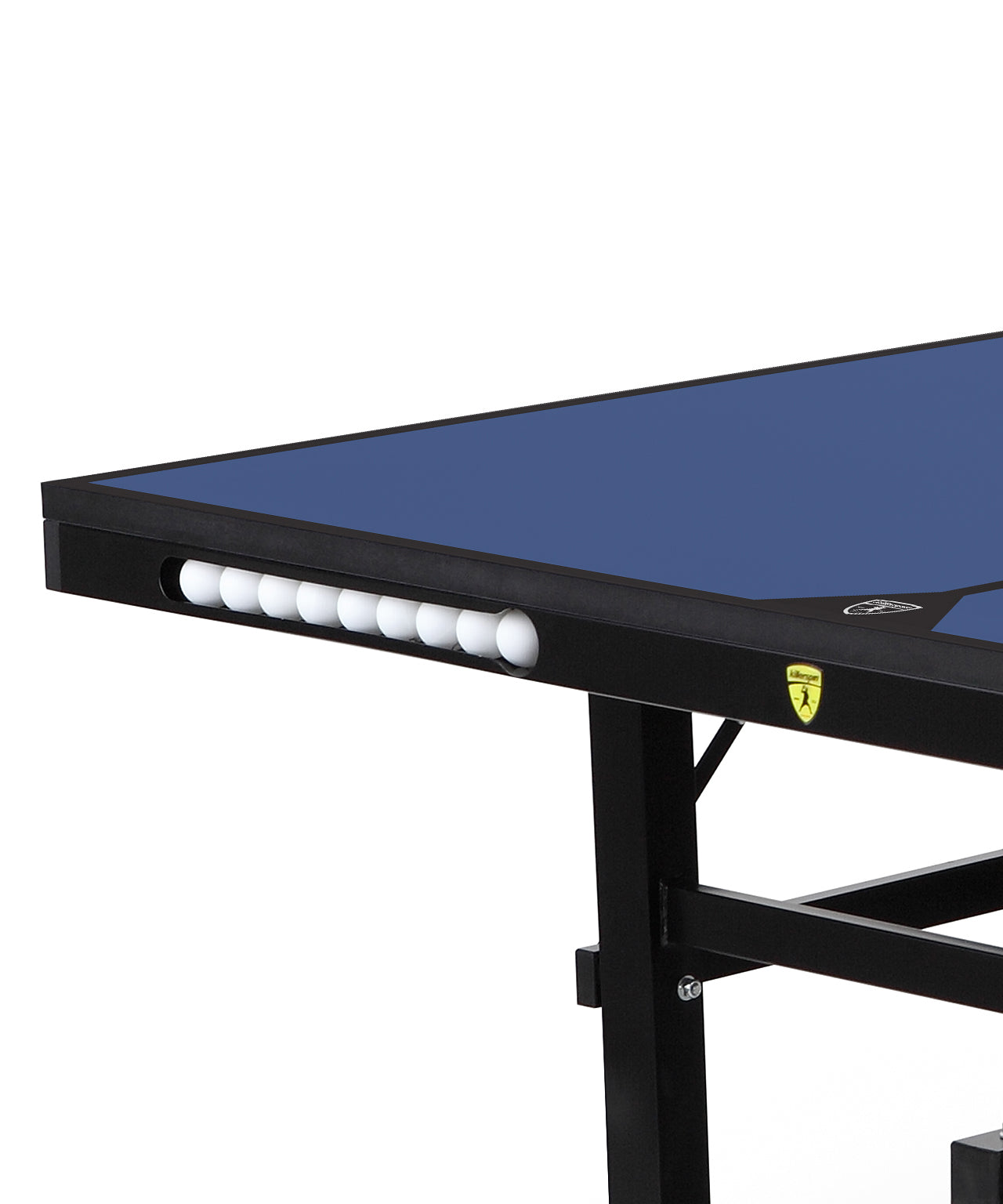 Killerspin Indoor Ping Pong Table UnPlugNPlay415 Max DeepBlu Black frame Blue top model 2020 - ball pocket