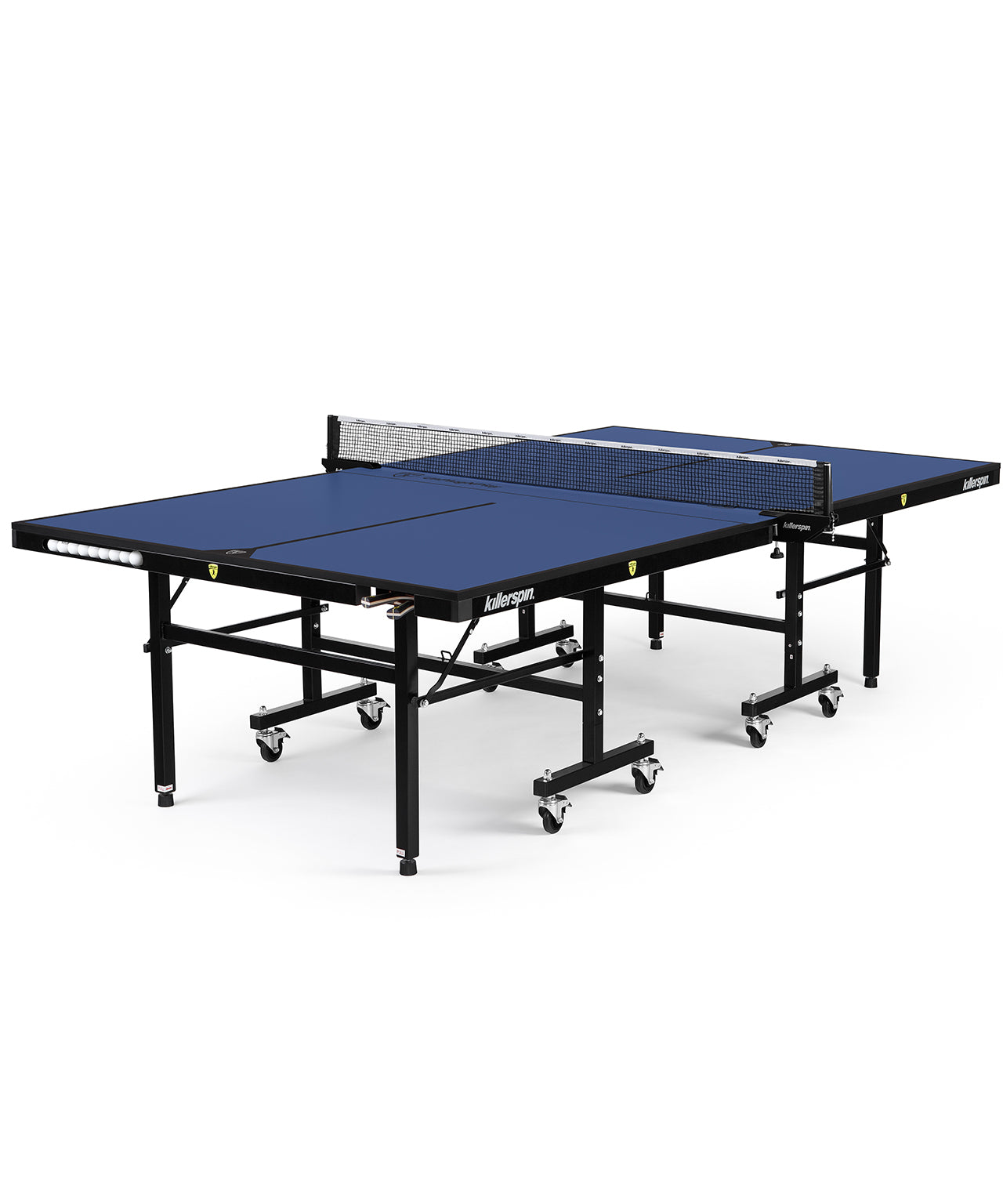 Killerspin Indoor Ping Pong Table UnPlugNPlay415 Mega DeepBlu Black frame Blue top model 2020