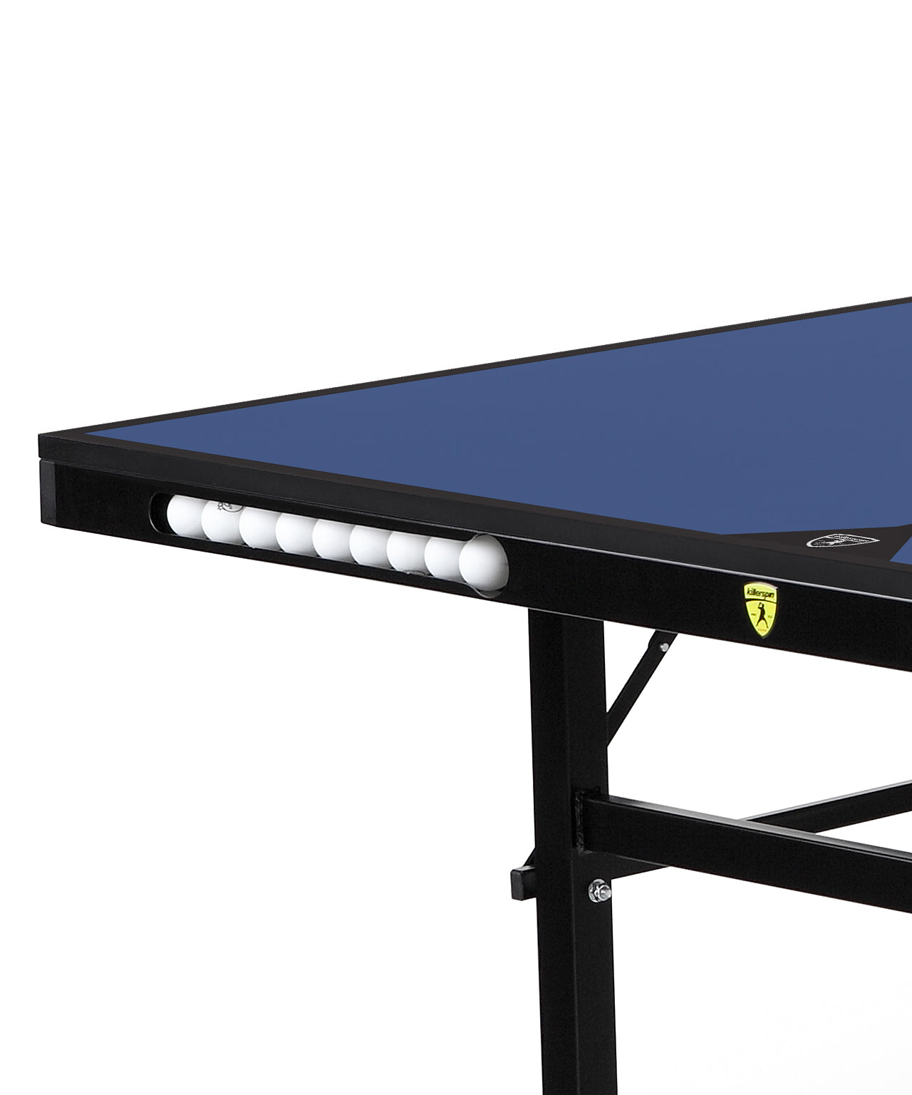 Killerspin Indoor Ping Pong Table UnPlugNPlay415 Mega DeepBlu Black frame Blue top model 2020 - ball pocket