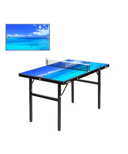 Killerspin Mini Ping Pong Table Designer Series Black Frame