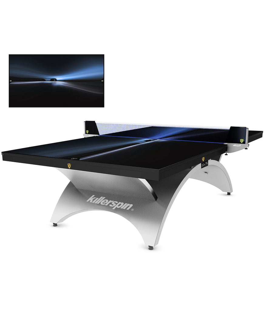 Killerspin Designer Series Table Tennis Table Revolution SVR Silver1