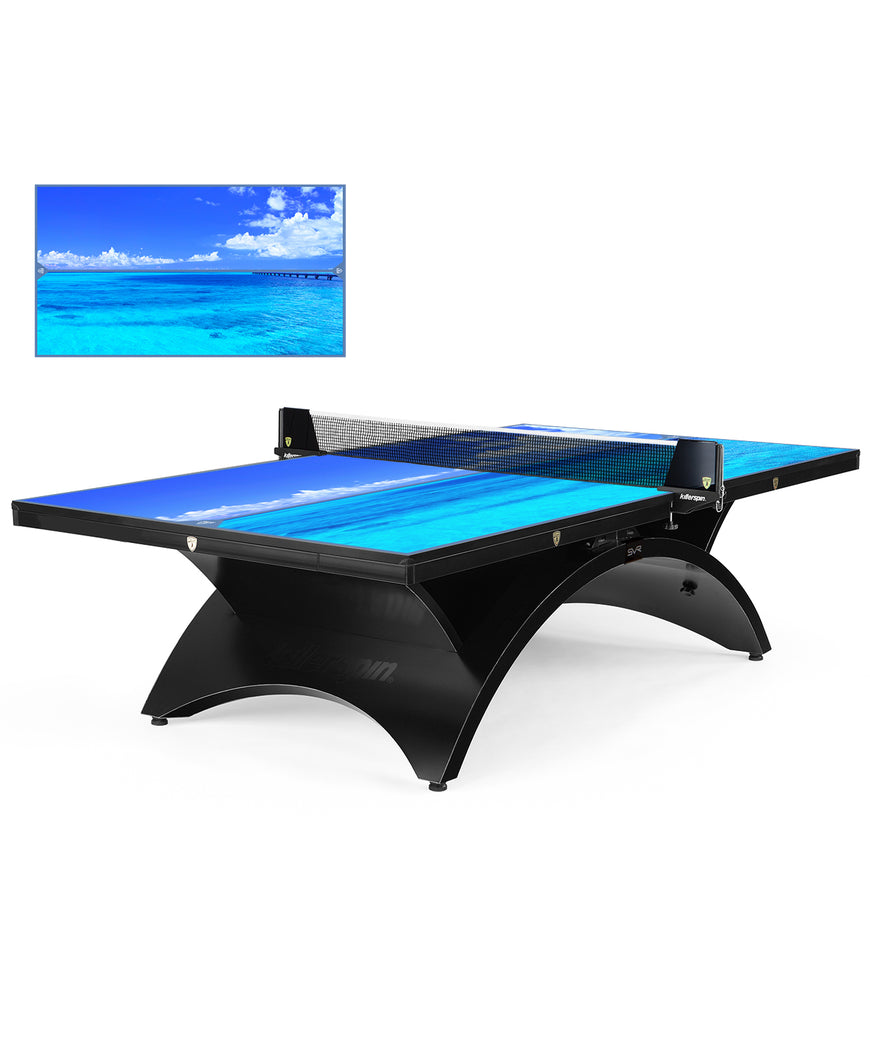 Killerspin Table Tennis Table Designer Series Revolution SVR BlackSteel