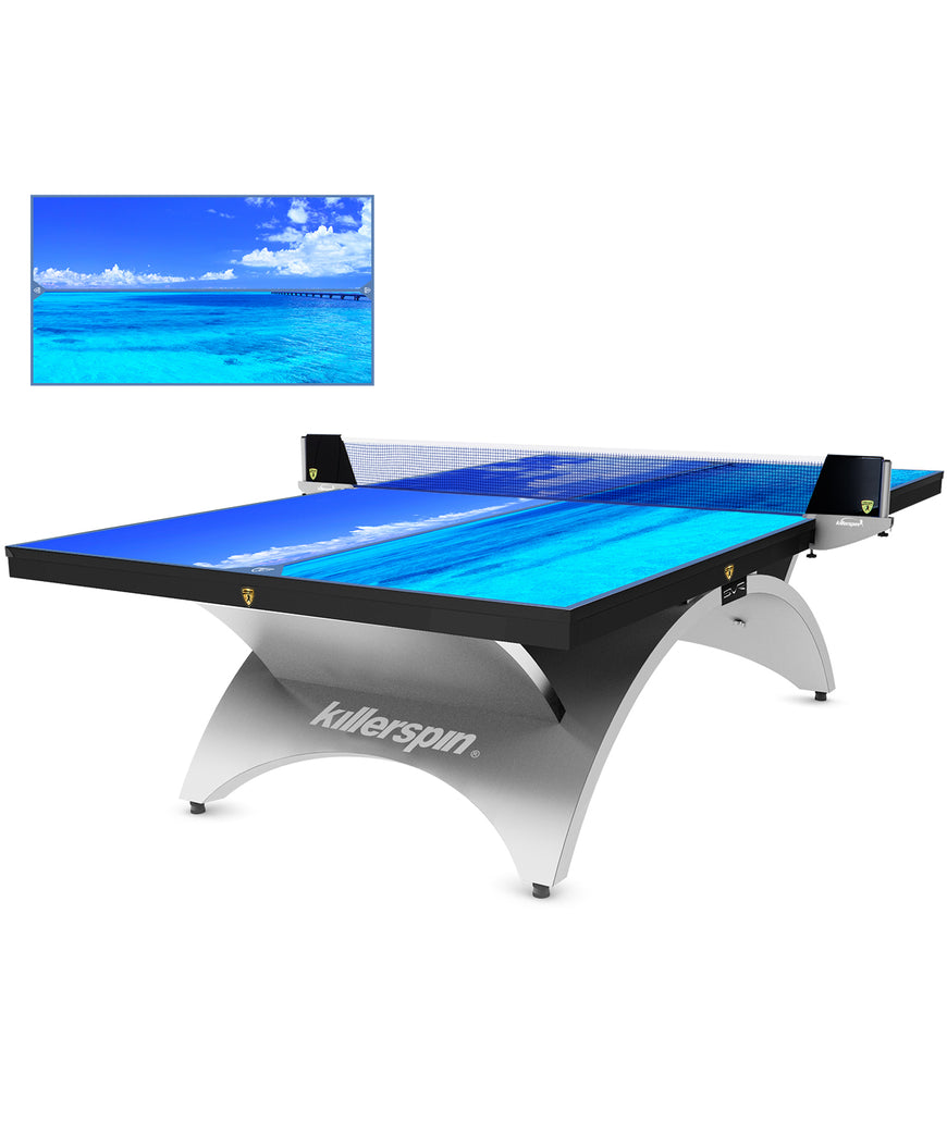 Killerspin Designer Series Ping Pong Table Revolution SVR Silver1