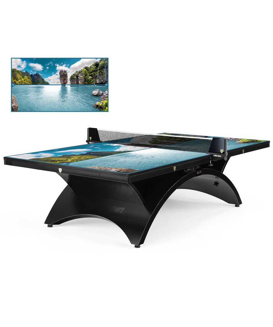 Killerspin Designer Series Table Tennis Table Revolution SVR BlackSteel