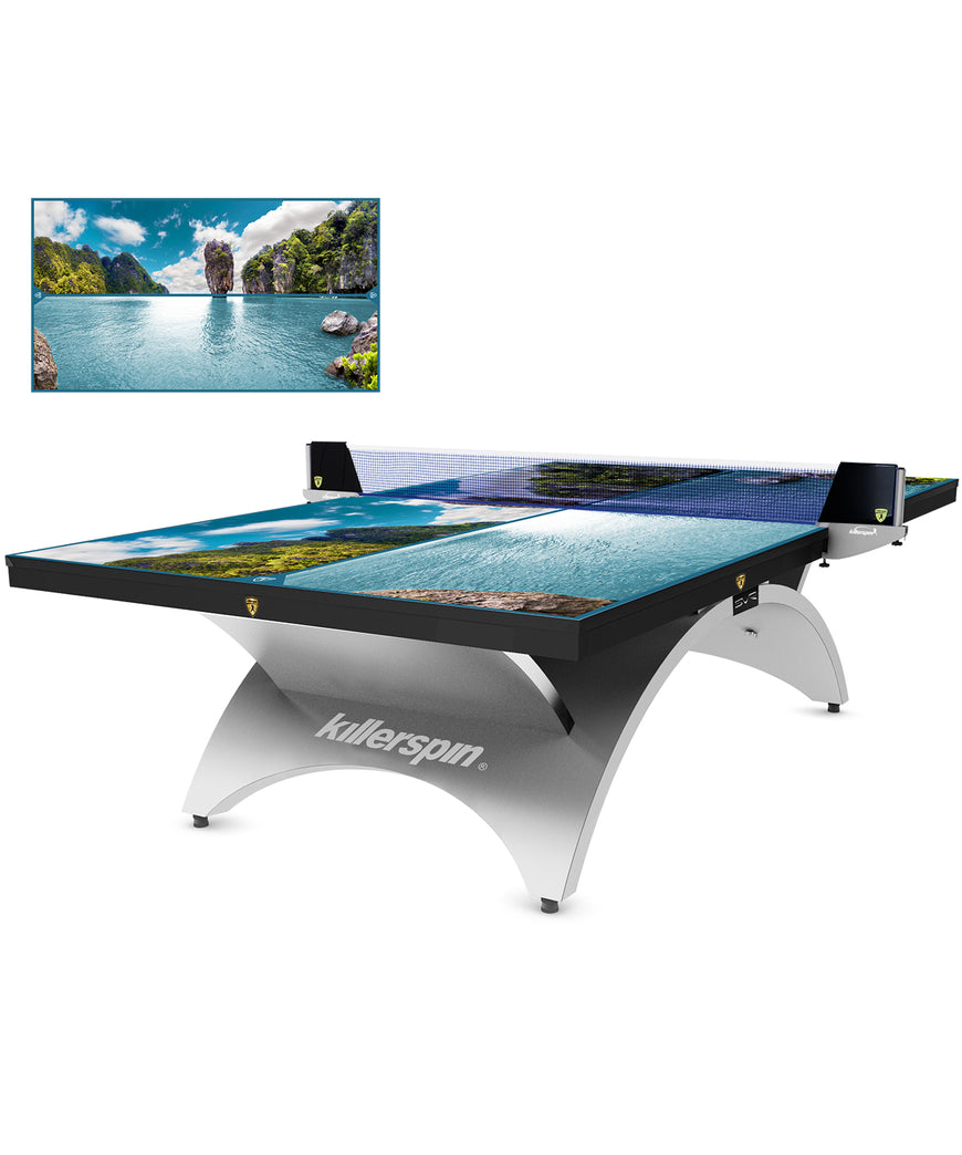Killerspin  Revolution SVR Ping Pong Table Designer Series Silver1