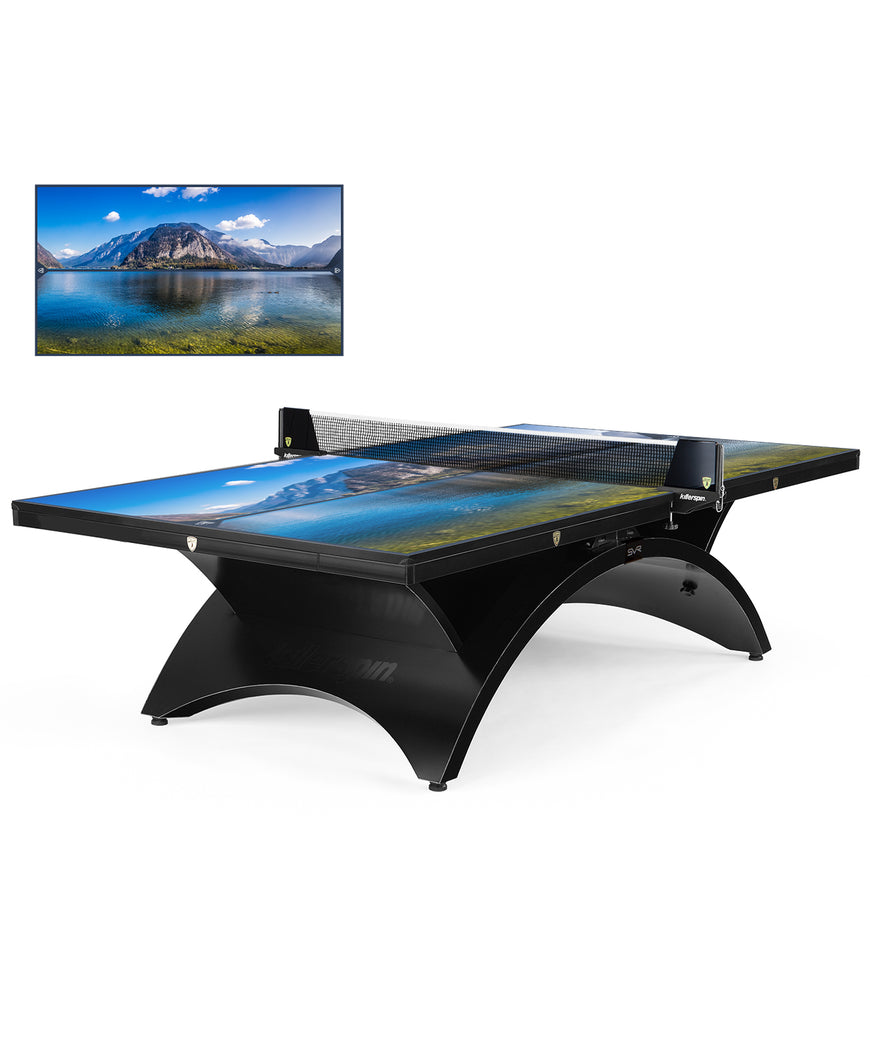 Killerspin Revolution SVR Table Tennis Table Designer Series BlackSteel