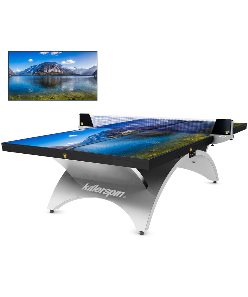 Killerspin Table Tennis Table Designer Series Revolution SVR Silver1