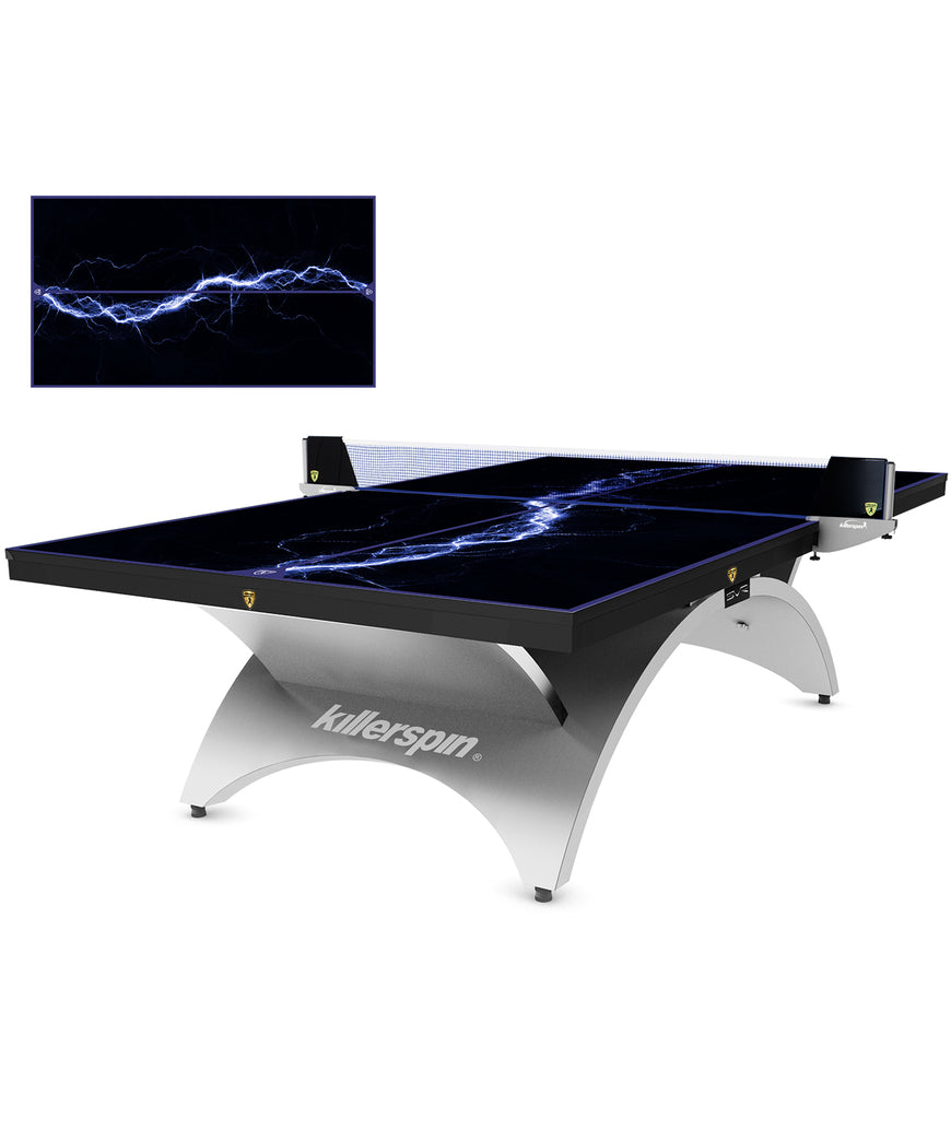 Killerspin Ping Pong Table Designer Series Revolution SVR Silver1