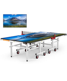 Killerspin MyT Ping Pong Table Designer Series White Frame