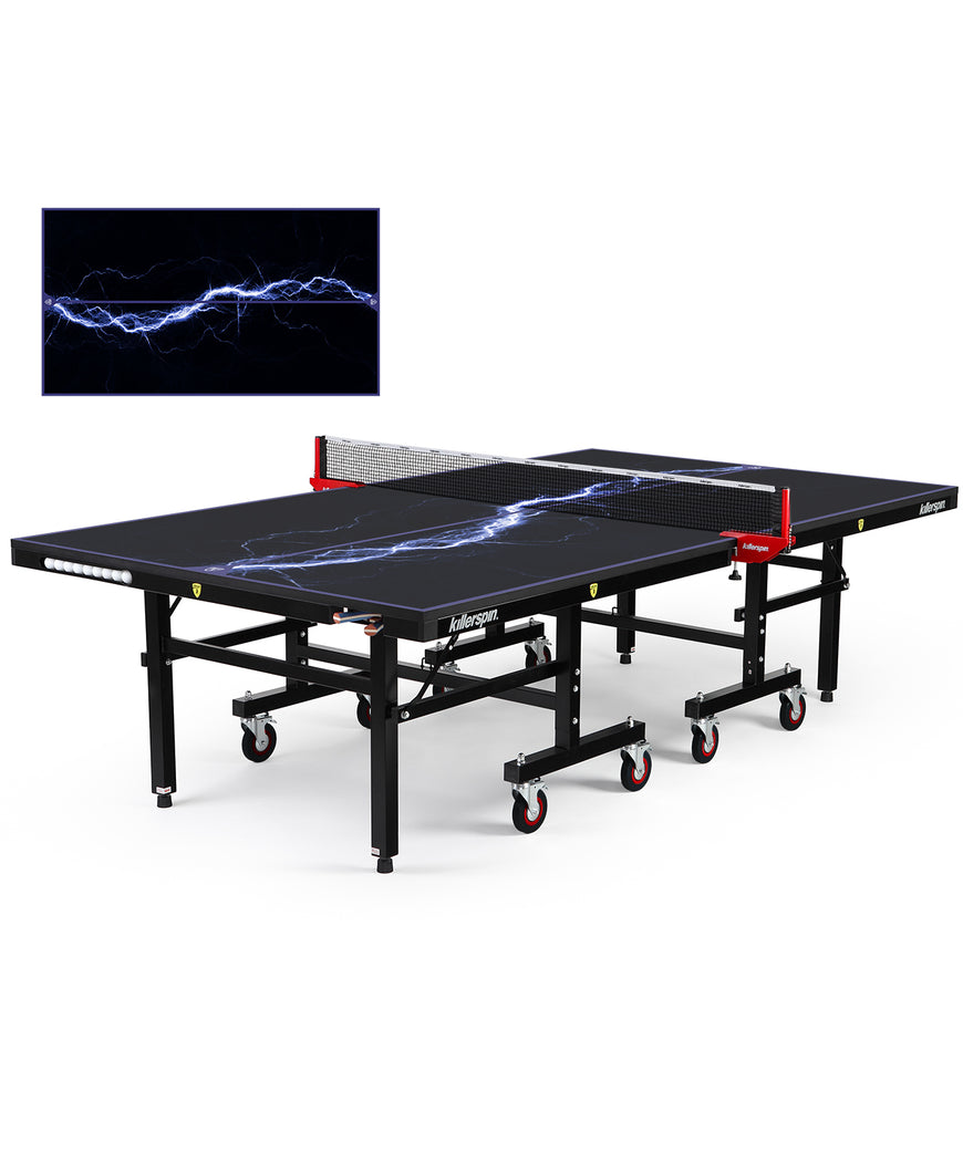 Killerspin MyT Ping Pong Table Designer Series Black Frame Storm