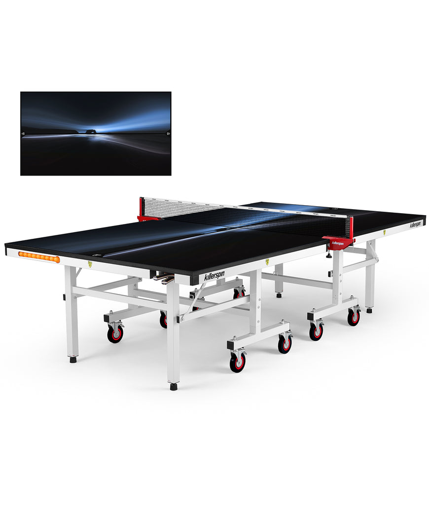 Killerspin MyT Ping Pong Table Designer Series White Frame Dawn