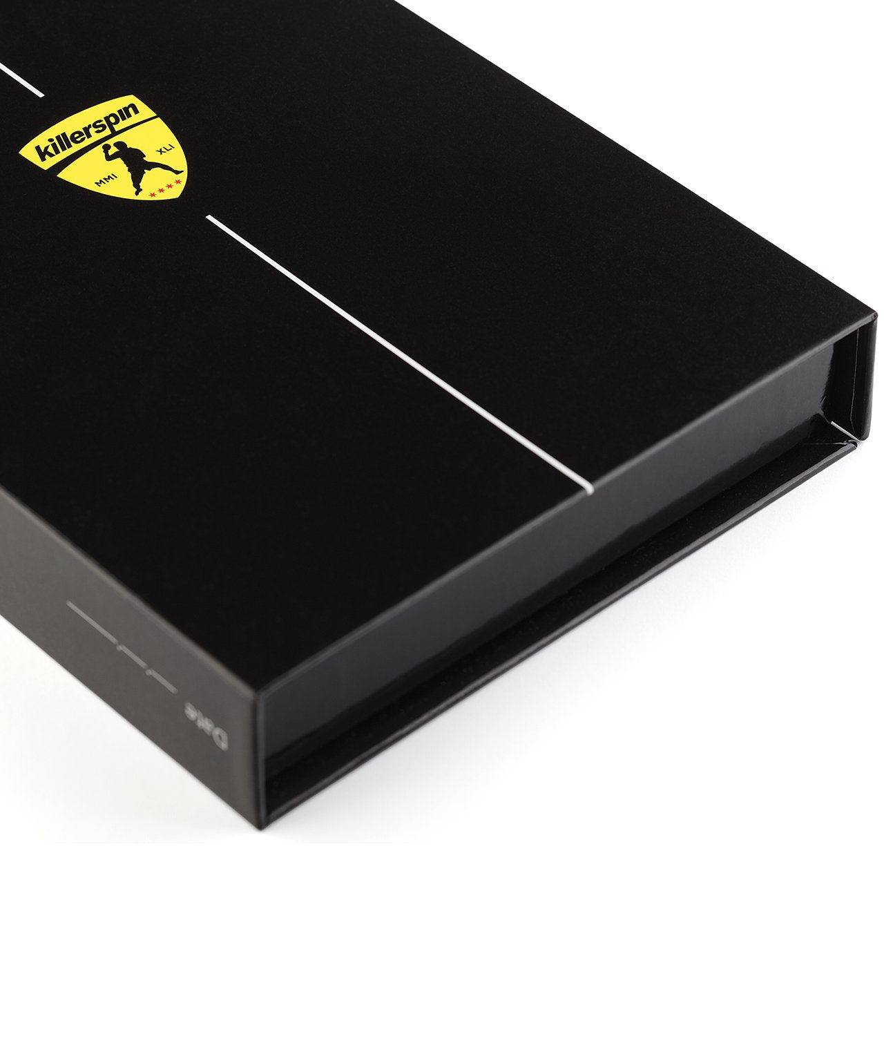 Killerspin Black Memory Book Ping Pong Paddle Box - Logo