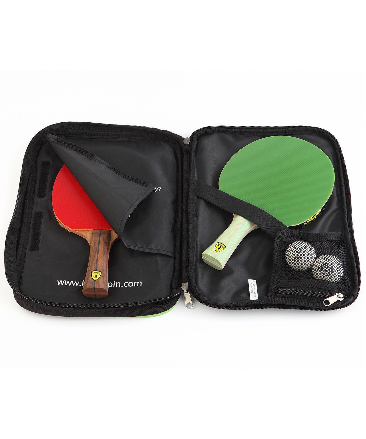 Killerspin Optima Ping Pong Paddle Case - Racket Pocket Ball Pocket