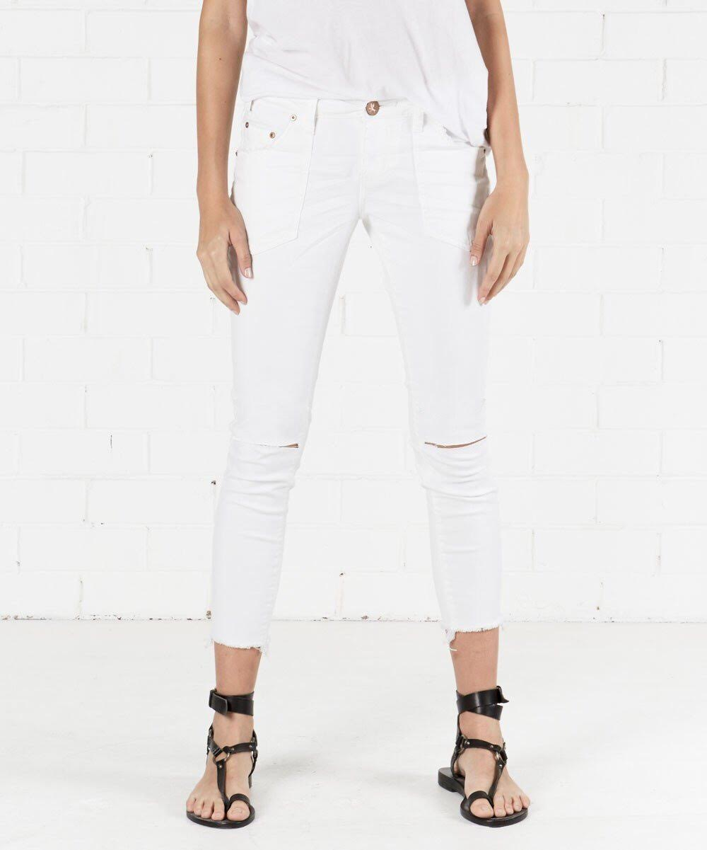 One Teaspoon Premium White Freebird II Jean