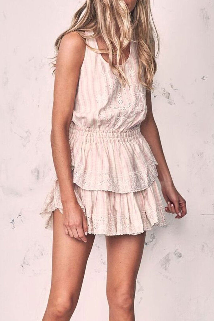 Love Shack Fancy Ruffle Racer Mini Dress