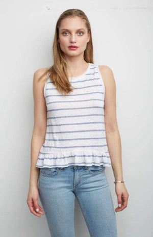 Generation Love Alice Ruffle Stripe Top