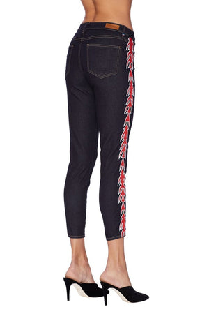 Etienne Marcel Cropped Denim with Arrow Embroidery