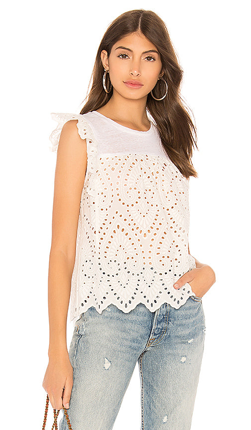 Generation Love Courtney Eyelet Lace Top
