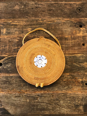 East Gate Porcelain Rattan Bag