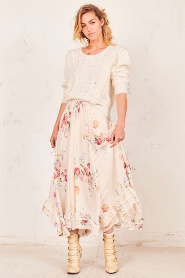 Love Shack Fancy Navya Skirt Natcr