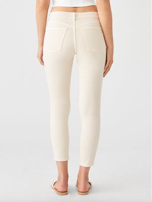 DL 1961 Florence Cropped Ivory Jean