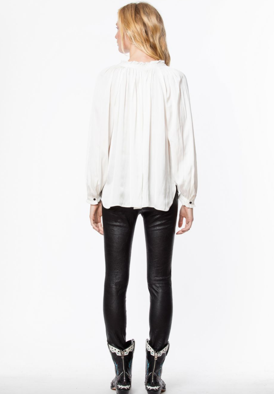 Zadig & Voltaire Theresa Satin Tunic Blouse
