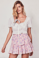 Love Shack Fancy Ruffle Mini Skirt Pink