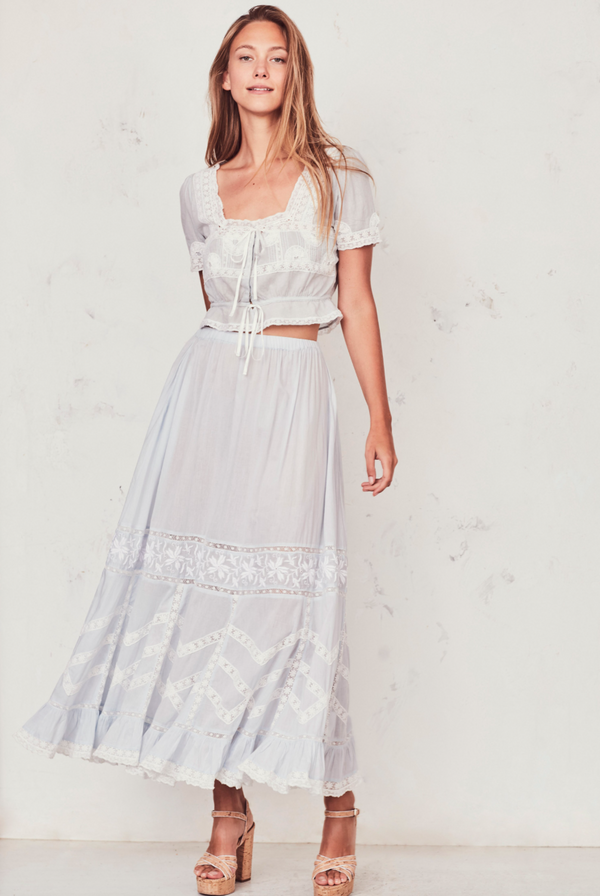 Love Shack Fancy Ali Skirt