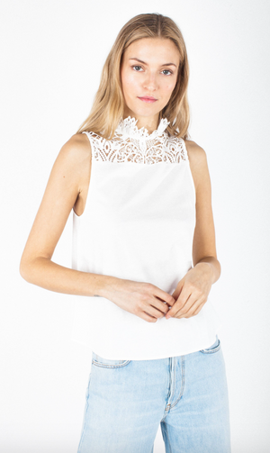 Generation Love Amara Lace  Ivory Top