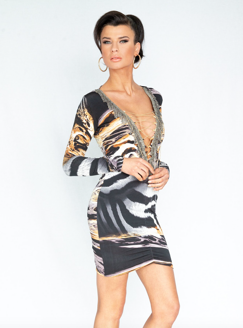 Tracy N Collection Jinan Safari Animal Dress