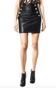 Generation Love Adi Leather Mini Skirt Black