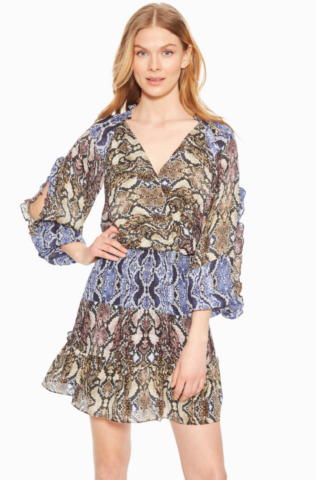 Parker NY Gladis Python Multi Dress