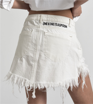 One Teaspoon Natural White Vanguard Skirt