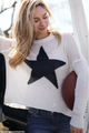 Wooden Ships Star Slouchy Crew Cotton