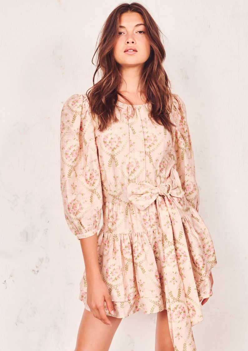 Love Shack Fancy Pearla Roseh Dress