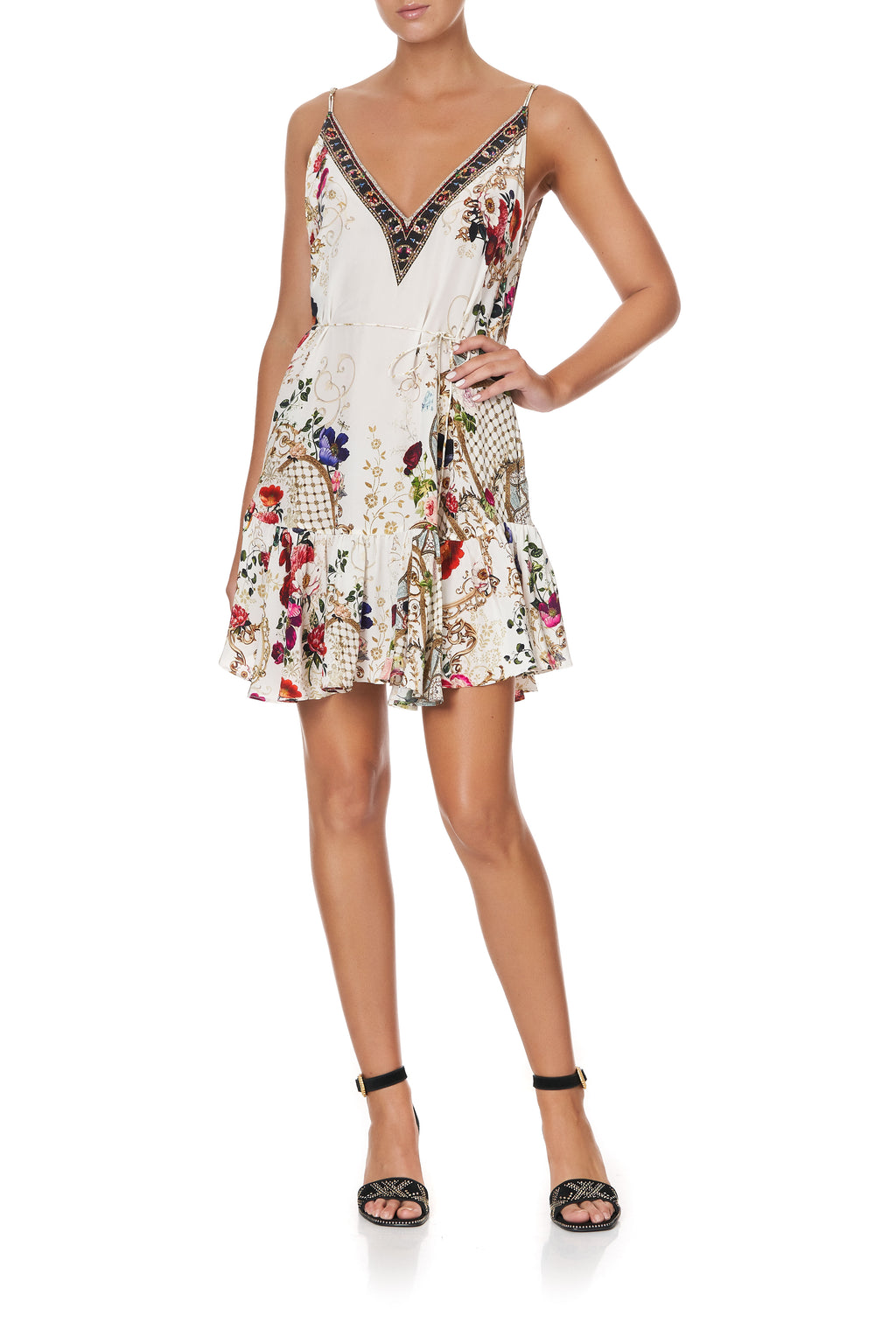 Camilla Mini Dress with Ruffle Hem