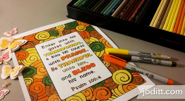 Delight in the Word Coloring Book - Psalm