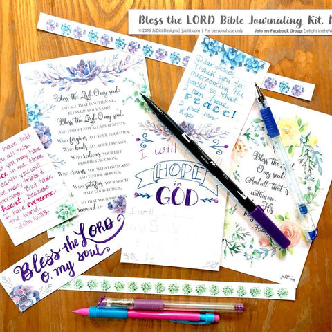 Bless the Lord Bible Journaling Kit