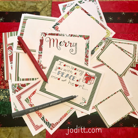 Christmas printable journal cards