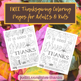 Thanksgiving Coloring Pages for Adults and Kids (Printable)