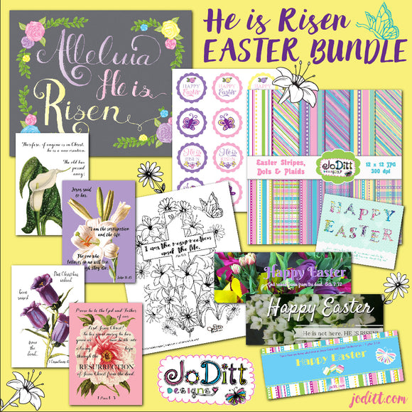 He is Risen Easter Printables Bundle