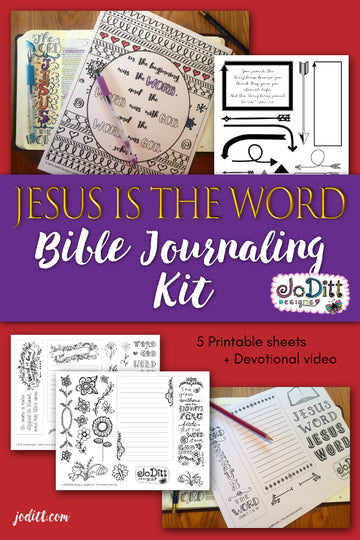 Jesus is the Word Bible Journaling Kit by JoDitt Designs