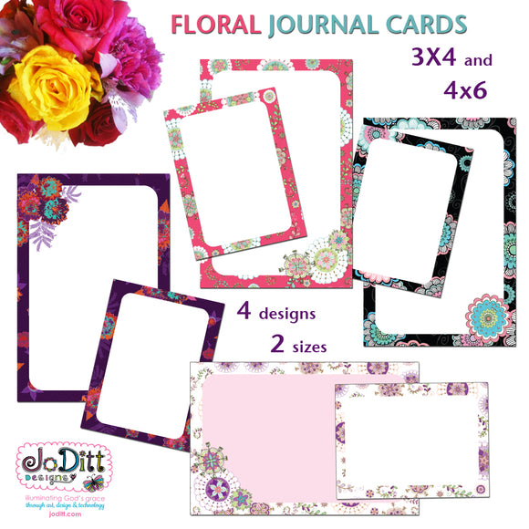 Floral Journal Cards