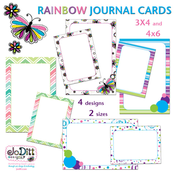 Rainbow Journal Cards