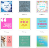 Bible Verse Shareable Squares - Favorite Scriptures {36 Designs}