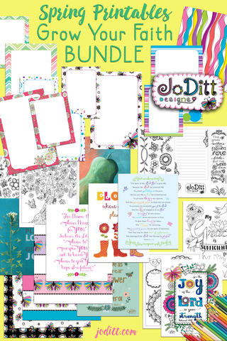 Spring Printables Grow Your Faith Bundle