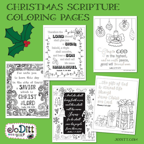 Christmas Scripture Coloring Pages
