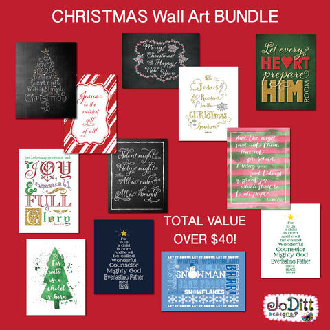 Christmas Wall Art Bundle