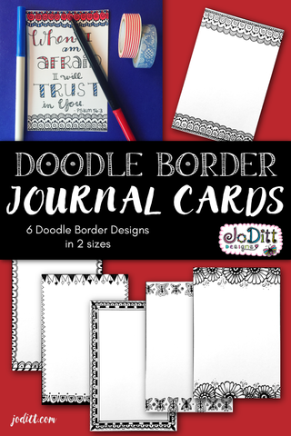 Doodle Border Journal Cards for Scripture Writing {PRINTABLE}